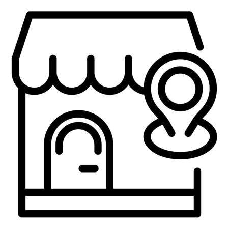 Marketing placement icon, outline style