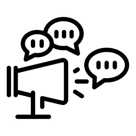 Megaphone ads icon, outline style