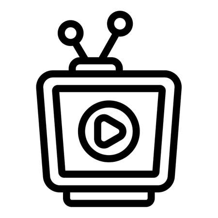 Tv advertising icon, outline style