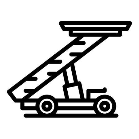 Passenger ladder truck icon, outline style
