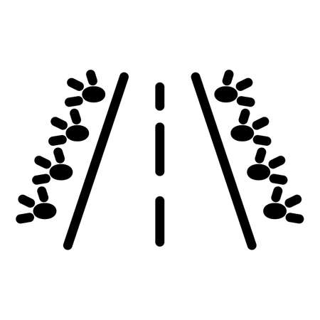 Plane runway icon, outline style Векторная Иллюстрация