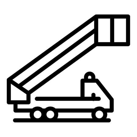 Vehicle airport ladder icon, outline style