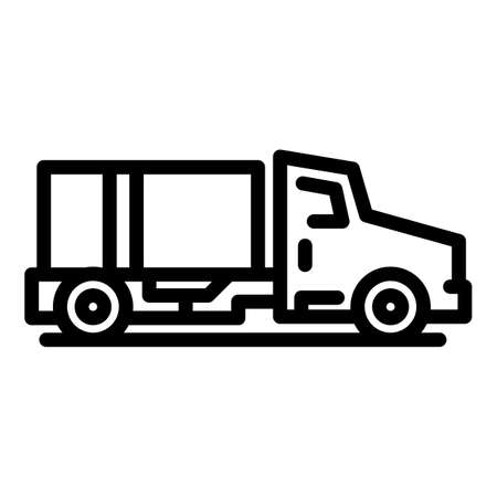Airport service truck icon, outline style