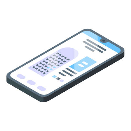 Phone airport icon, isometric style