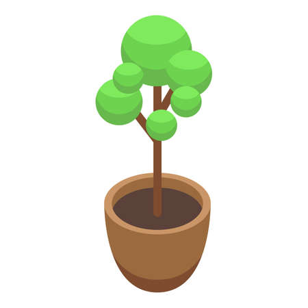 Airport tree icon, isometric style
