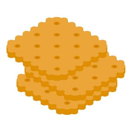 Plane snacks icon, isometric style