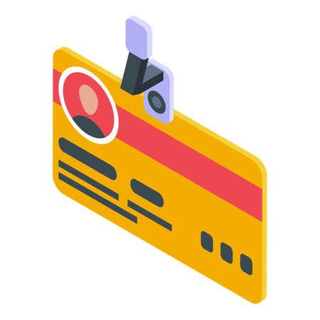 Identity card icon, isometric style