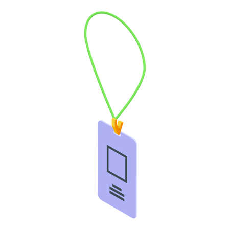 Id card icon, isometric style