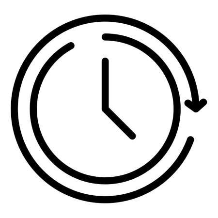 Adapt period icon, outline style Vektoros illusztráció