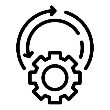 Setting adaptation icon, outline style