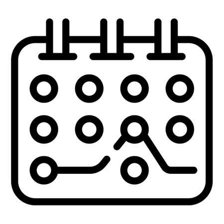 Flexible program icon, outline style