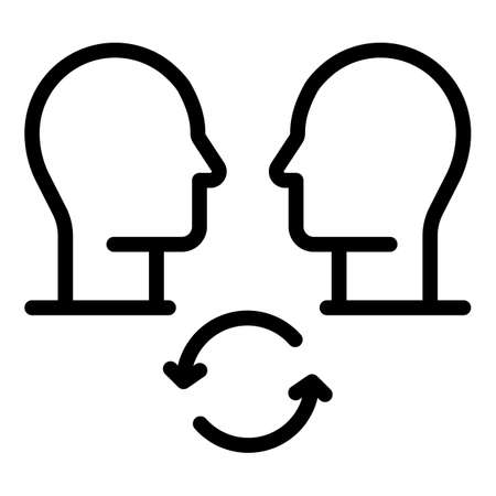People contribution icon, outline style