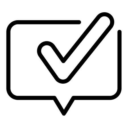Follow mark icon, outline style