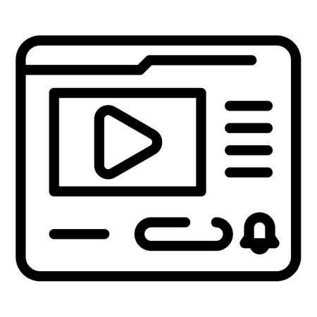 Video subscribe icon, outline style