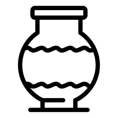 Ancient vase icon, outline style 矢量图像