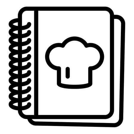 Recipe book icon, outline style
