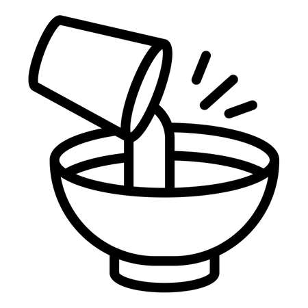 Cooking process icon, outline style