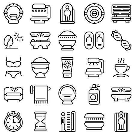 Solarium icon, outline style