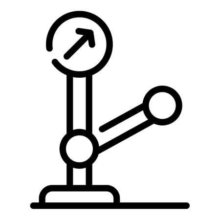 Railway indicator icon, outline style