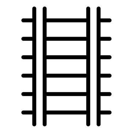 Train track icon, outline style
