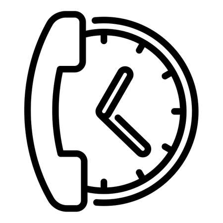 Call support icon, outline style Vettoriali