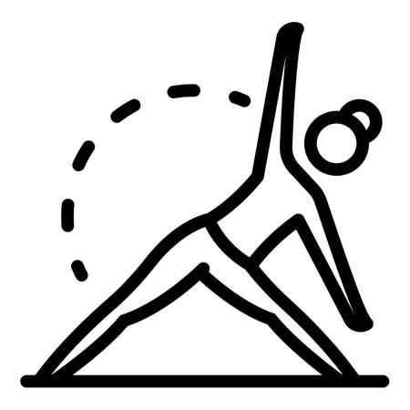 Health pilates icon, outline style