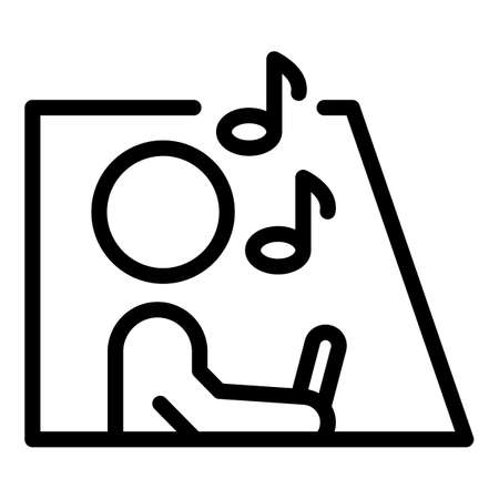 Careless person driving icon, outline style