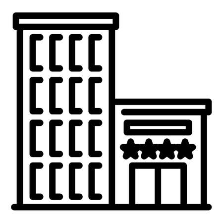 Airport building icon, outline style