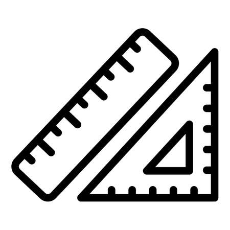 Knitting rules icon, outline style
