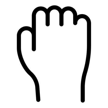 Hand gesture fist revolution icon, outline style