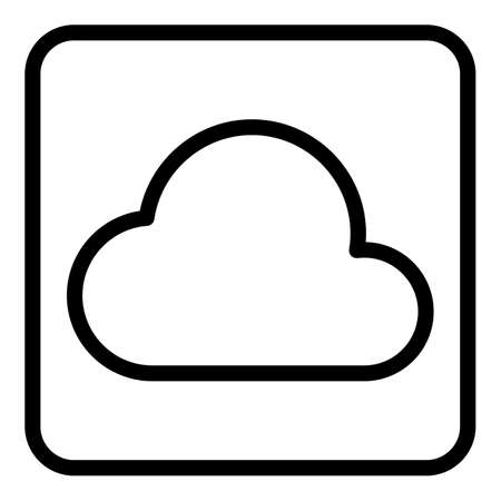 Icon cloud interface icon, outline style