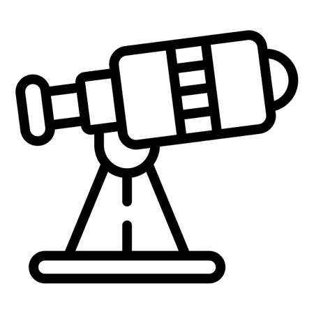 Telescope icon, outline style Vector Illustration