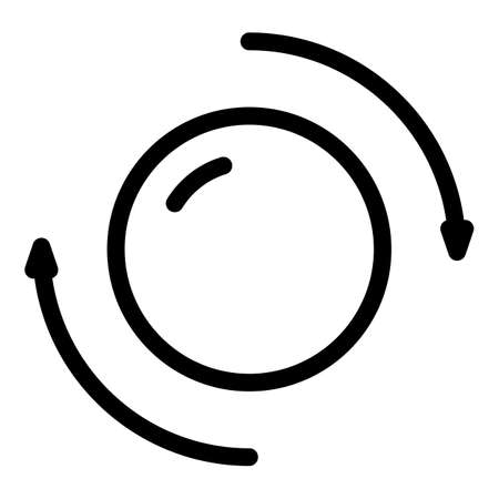 Perpetual motion circle icon, outline style