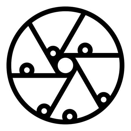 Perpetual motion balls icon, outline style