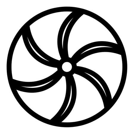 Perpetual motion circle icon, outline style Vecteurs