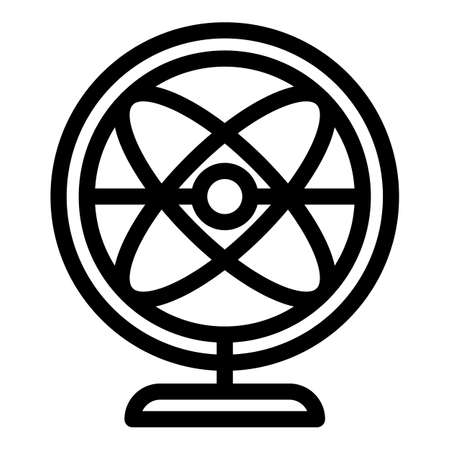 Perpetual motion balance icon, outline style
