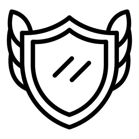 Shield award icon, outline style