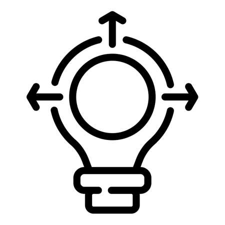 Creative bulb campaign icon, outline style