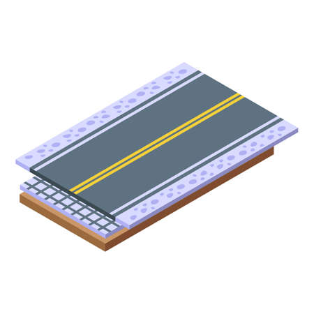 Highway construction icon. Isometric of highway construction vector icon for web design isolated on white background Vektoros illusztráció