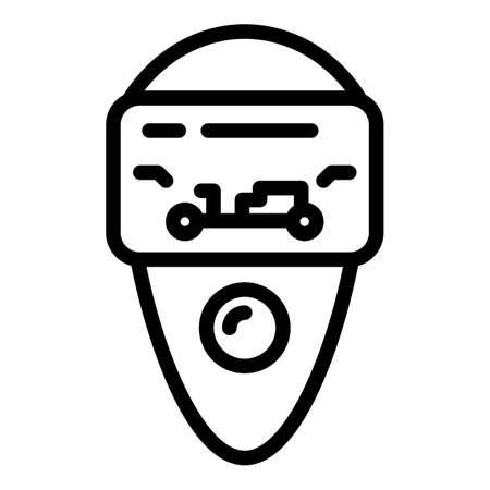 Vehicle keyless icon. Outline vehicle keyless vector icon for web design isolated on white background