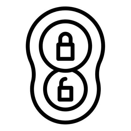 Remote auto key icon. Outline remote auto key vector icon for web design isolated on white background