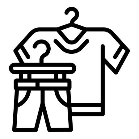 Used clothes donation icon. Outline used clothes donation vector icon for web design isolated on white background
