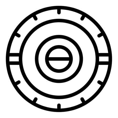Closed solarium icon. Outline Closed solarium vector icon for web design isolated on white background