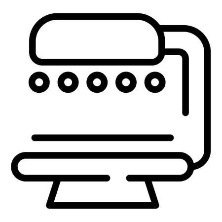 Ultraviolet solarium icon. Outline Ultraviolet solarium vector icon for web design isolated on white background