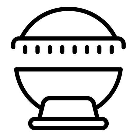 Cabin solarium icon. Outline Cabin solarium vector icon for web design isolated on white background