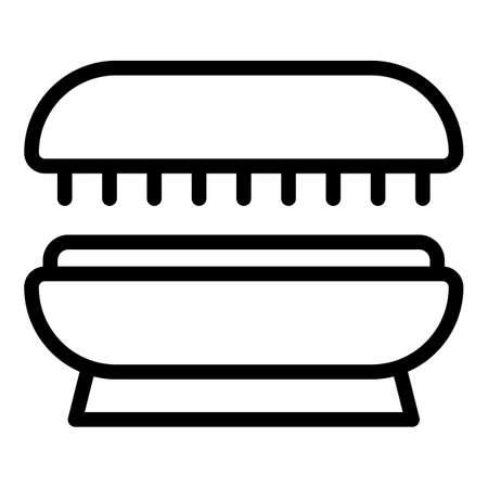 Sunburn solarium icon. Outline Sunburn solarium vector icon for web design isolated on white background