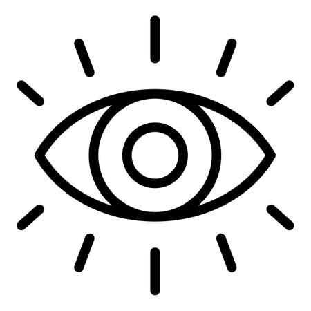 Eye spiritual icon. Outline Eye spiritual vector icon for web design isolated on white background