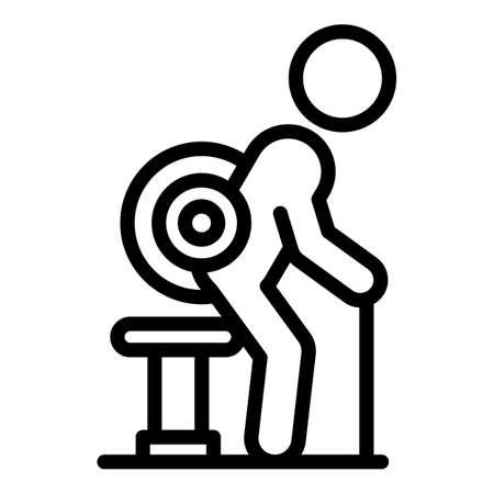 Back arthritis icon. Outline Back arthritis vector icon for web design isolated on white background
