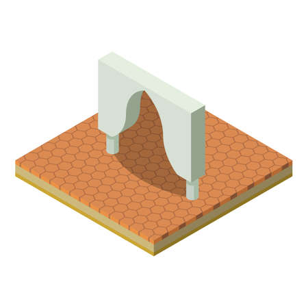 Curly arch icon. Isometric illustration of curly arch vector icon for web