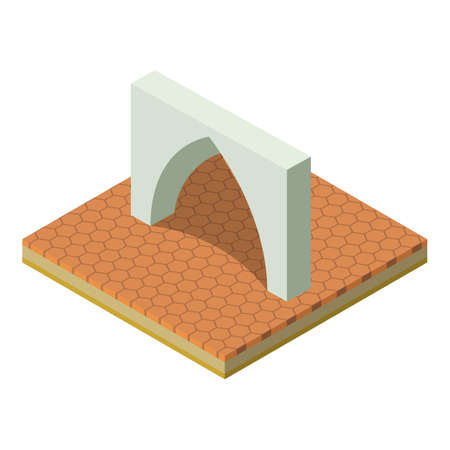 Muslim arch icon. Isometric illustration of muslim arch vector icon for web